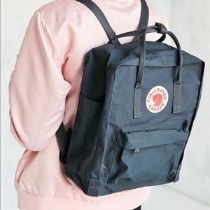 navy fjallraven kaken backpack